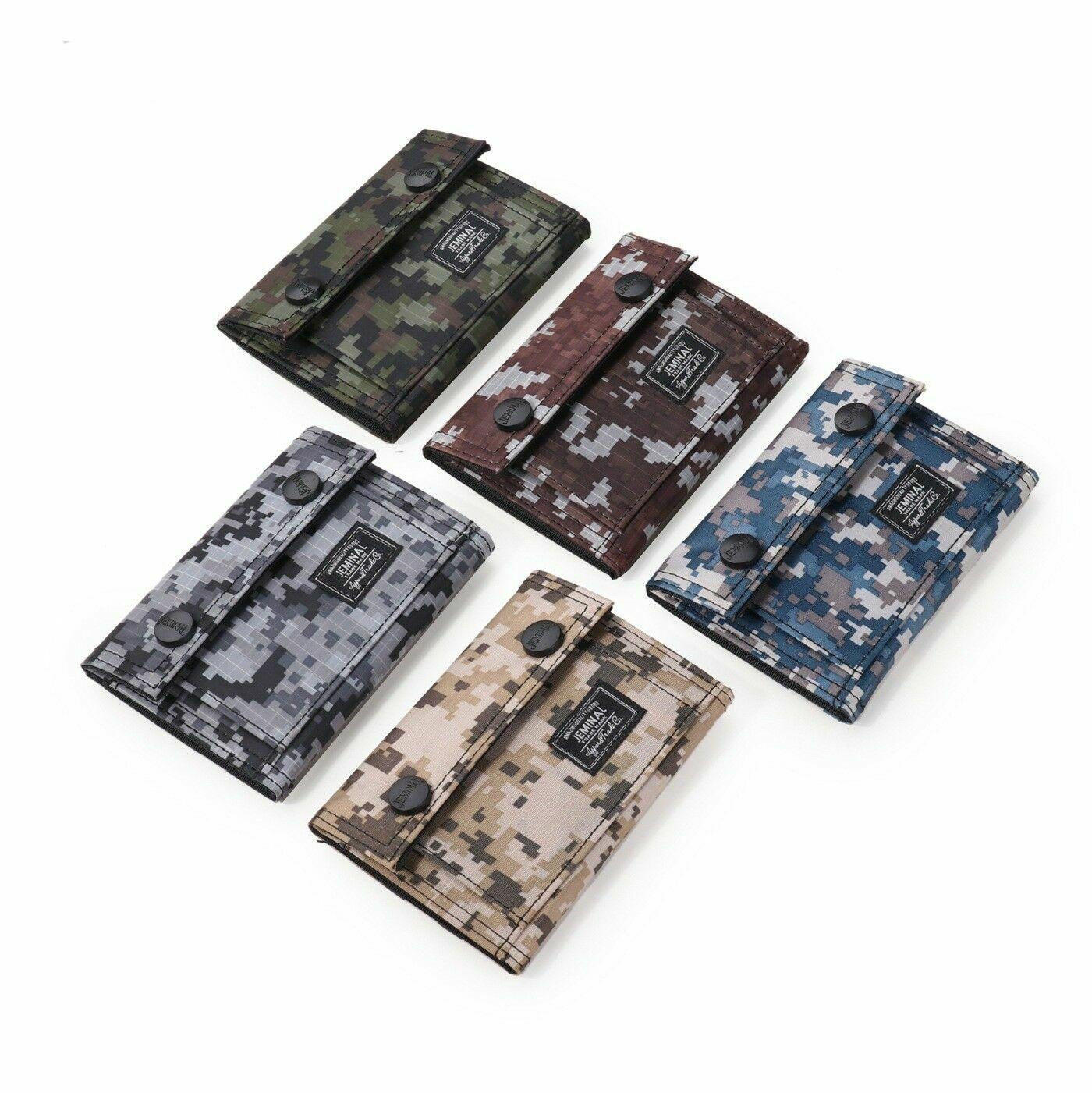 Men's Tactical Army ID Credit Card Wallet Holder Purse Camo Sports Pocket Bag US