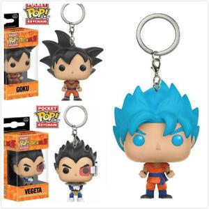 New Dragon Ball Z Keyring Super Saiyan Goku Vegeta Figure