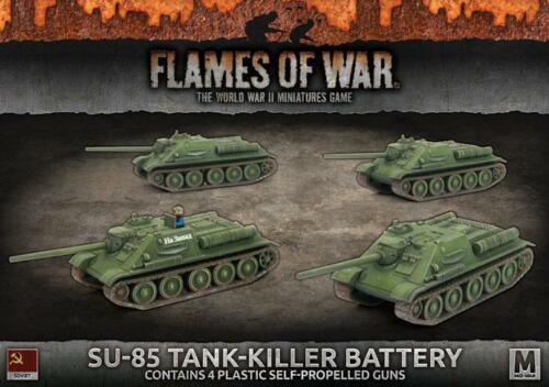 Flames of War  Mid War  Soviet  SU-85 Tank Killer Battery (SBX57)