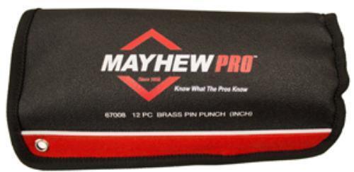 Mayhew 67008 12 Piece Brass Pin Punch  Set