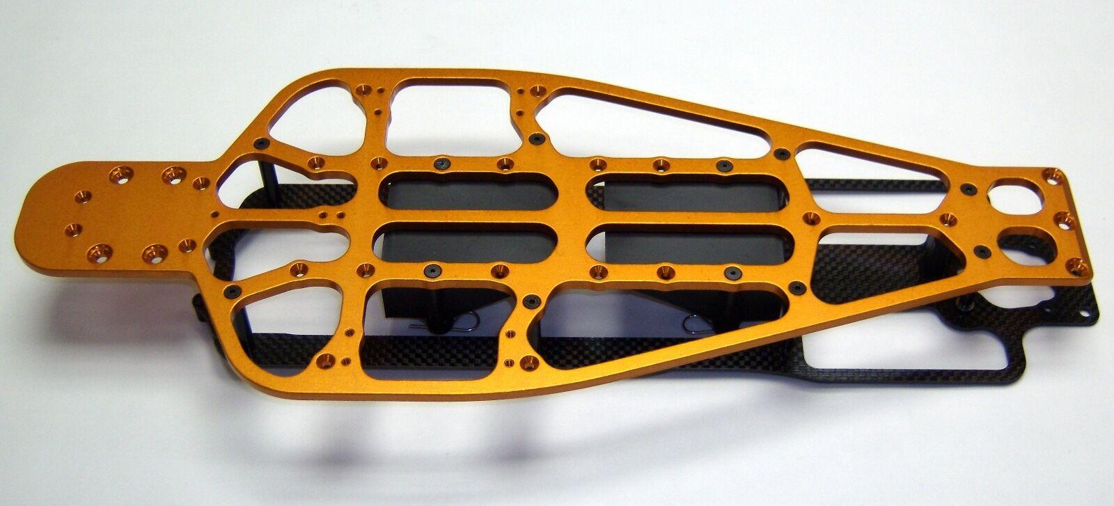 il più economico XTREME RACING TRAXXAS RUSTLER     SLASH LCG arancia ALUMINUM CHASSIS KIT 10619ALO  vendita con alto sconto