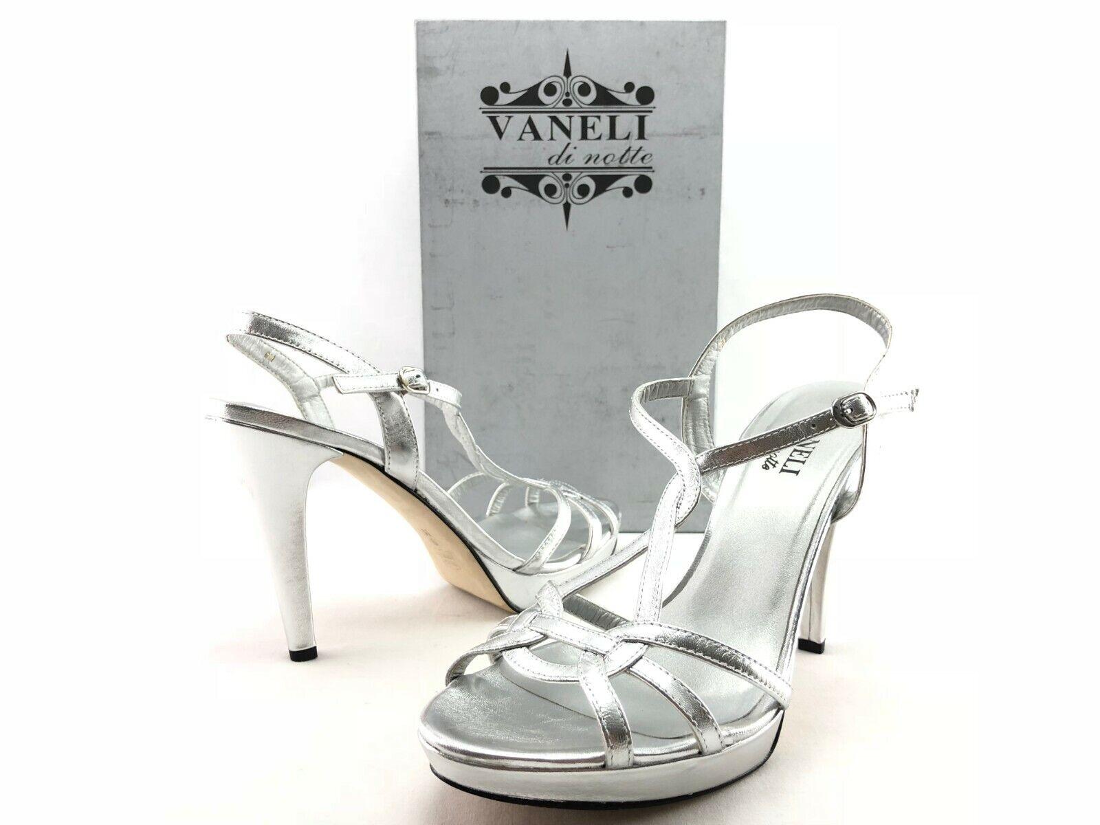 VANELi Qamar Women's Silver Strappy Dress Dress Dress Sandals Heels US 9 M shoes C105 8af4a2
