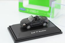 Welly Audi TT Roadster Black  -  Car HO Scale 1:87