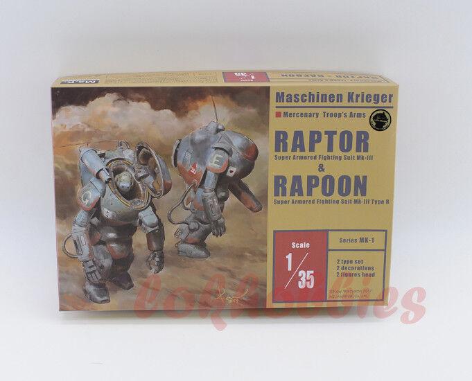Aquamarine Ma.k MAK SPACE SF3D SAFS 1 35 Raptor + Rapoon Model Figure