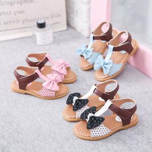 Children-Toddler-Kids-Baby-Girls-Summer-Bow-Knot-Single-Princess-Shoes-Sandals