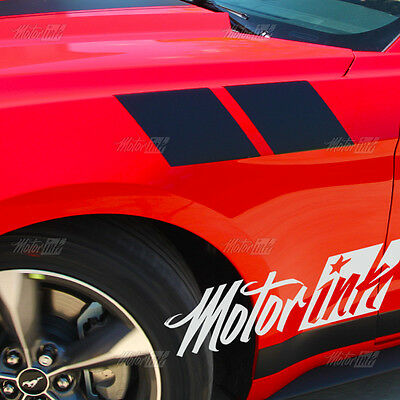 FORD MUSTANG FENDER HASH STRIPES DECALS 2015 2016 HIGH QUALITY 2 SETS OF STRIPES