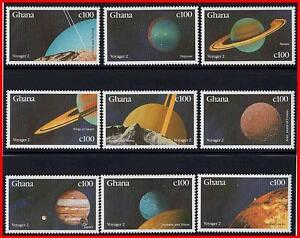 GHANA-1990-SOLAR-SYSTEM-PLANETS-9-STAMPS-SET-MNH-SPACE-ASTRONOMY-watching