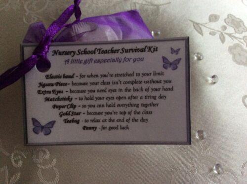 Keepsake thank you gift for Nursery Nurse Nursery Assistant end of term gift her