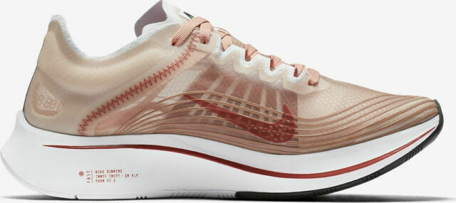 93bc1947fd293 Nike Women s Zoom Fly SP Dusty Peach White Running Shoes 6.5 ...