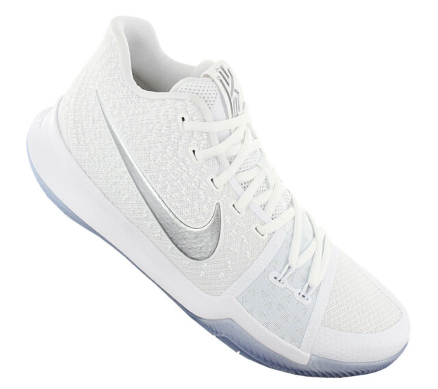 3377042187be Nike Kyrie 3 Chrome Mens 852395-103 White Hyperfuse Basketball Shoes ...