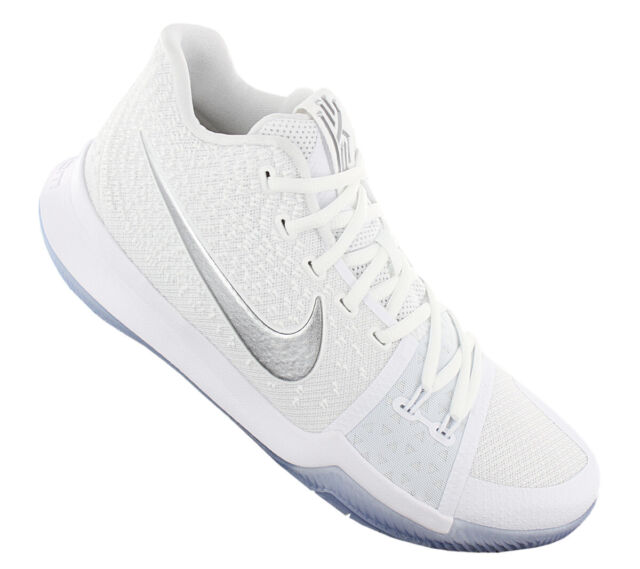 4fb32d014a2d Nike Kyrie 3 Mens Shoes Size 9 White Chrome Metallic Silver 852395 ...