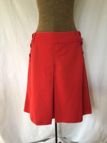 Ivana Helsinki orange red button pleated mod 60's