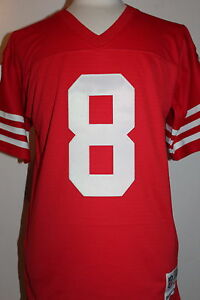 purchase cheap d3f5b 7e82d Details about Steve Young #8 San Francisco 49ers Throwback Jersey Mitchell  & Ness Jersey - Red