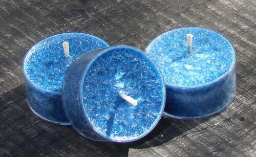 10pk SANDALWOOD /& LAVENDER Triple Scented Crystal TEA LIGHT CANDLES 60 hrs//pack