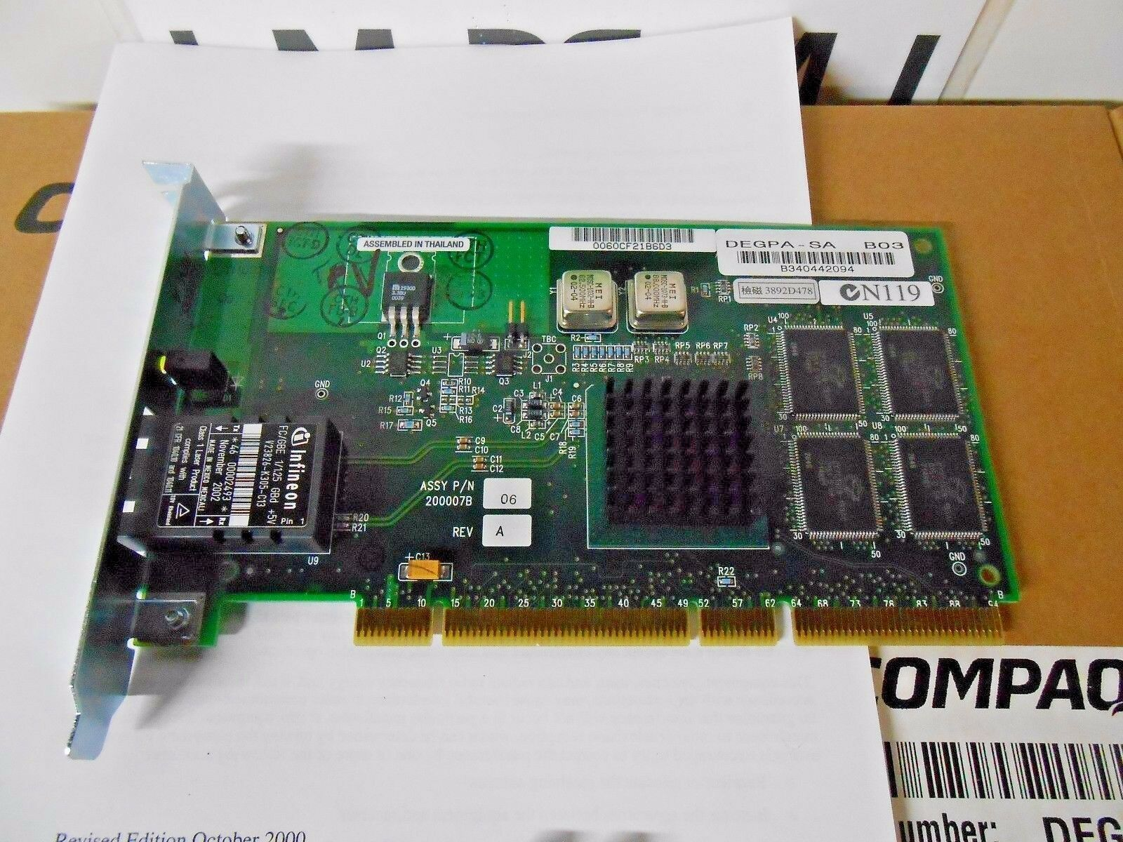 *UNUSED* DEGPA-SA Gigabit Ethernet Single-port 1000BASE- PCI x HP Alpha Systems