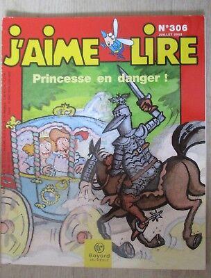 Couverture de J'aime lire ; princesse en danger n°306