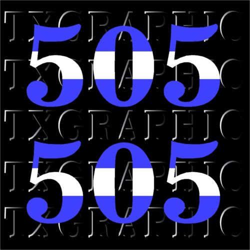 1 SET OF 2 Nicaragua AREA CODE 505  DECAL Flag Color Calling VINYL STICKER