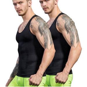 110758b59f700 Men s Belt Top Shapewear Body Fat Burner Vest Sauna Sweat Hot Shaper ...