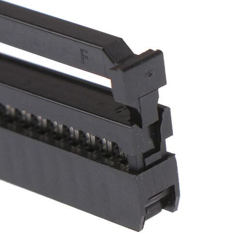 10Pcs 6//8//10//12//14-50Pin IDC Socket Plug Ribbon Cable Connector 2.54mm PitRSDE