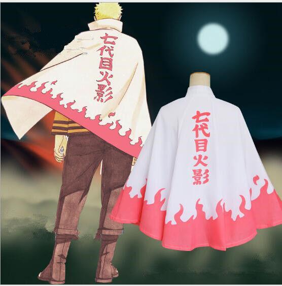 Anime Naruto Uzumaki 6th Hokage Halloween Cosplay Costume Cloak