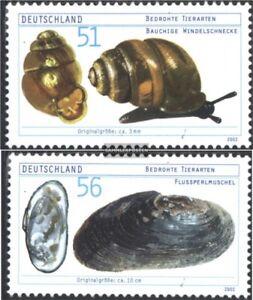 BRD-BR-Deutschland-2265-2266-kompl-Ausg-gestempelt-2002-Bedrohte-Tierarten