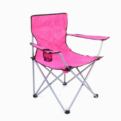 Pink Folding Camping Chair Outdoor Festival Picnic Fishing Chair