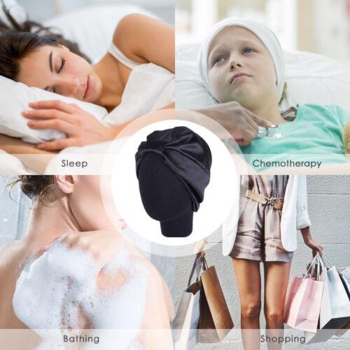 Women/'s Pure Silk Sleeping Caps Sleep Hat Night Hair Styling Care Bonnet Wrap