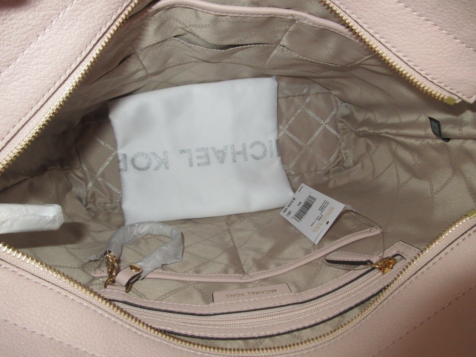 ead9dd357b01 Michael Kors Evie Large Soft Pink Pebbled Leather Hobo 30t8gzuh7l for sale  online | eBay