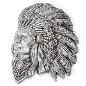 Indian Warrior Chief Belt Buckle Western Cowboy Native American YIW-01-G
