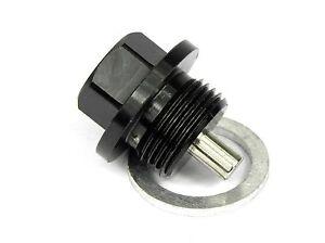 M14x1.5, Black Magnetic Oil Drain Plug Sump Drain Nut Oil Drain Bolt