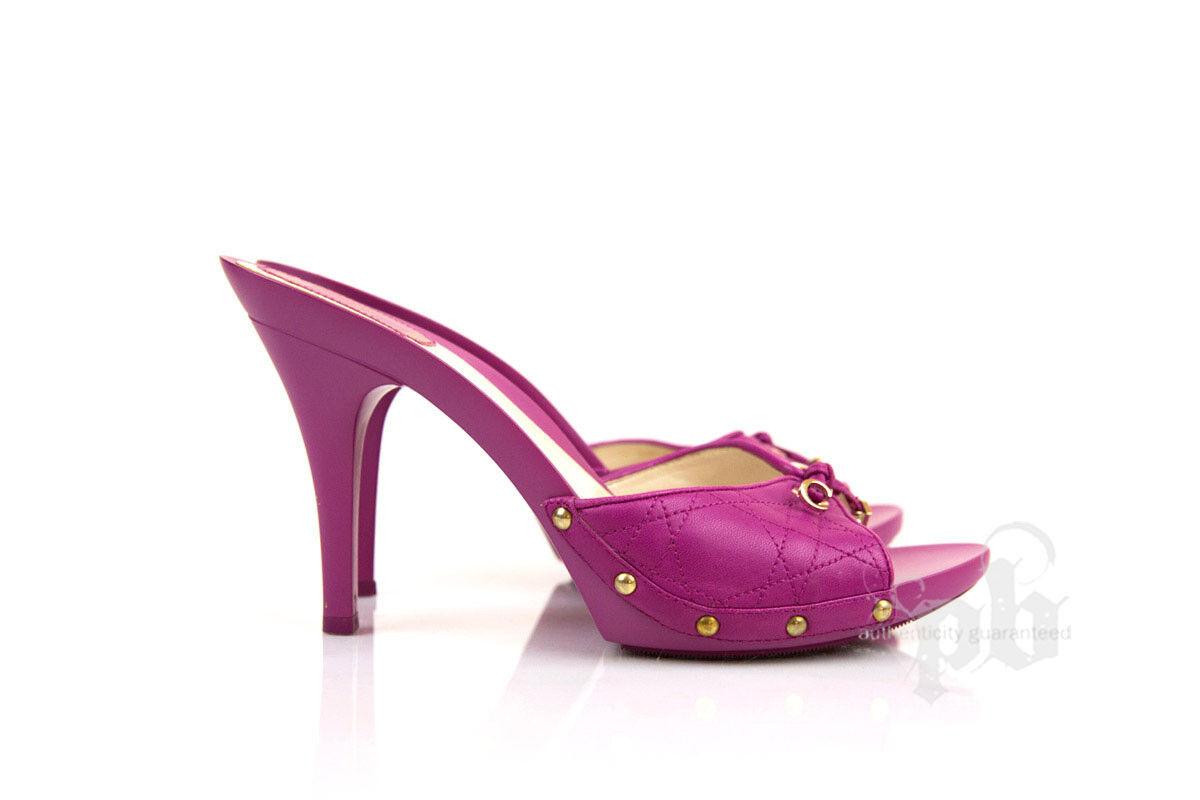 presa di fabbrica Christian Dior viola Pumps Sandals S40EU   9US - - - 100% Authentic & Pristine  controlla il più economico
