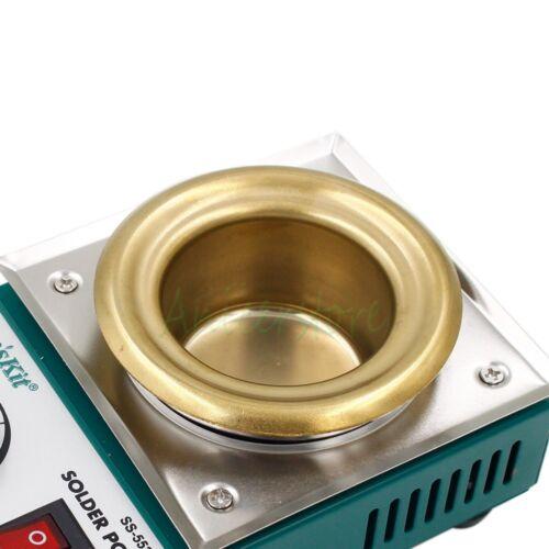 200W Solder Pot Tin Melting Furnace Soldering Bath Station 50mm 550℃ 500g 220V