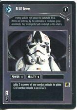 Star Wars CCG Hoth Black Border At-At Driver