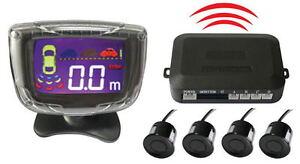 Wireless-LCD-Parking-Sensor-Kit-4-Sensors-PZ500-W-Car-Reversing-Radar-System-NEW