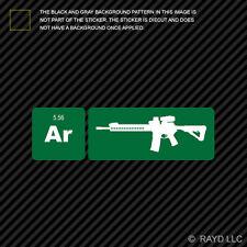 AR15 Element Periodic Table Green Sticker Die Cut Decal ar 15 2a 2nd