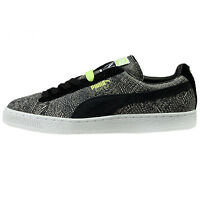 Puma Suede Mis-match Mens 359407-01 Dark Shadow Black Athletic Shoes Size 8 on sale
