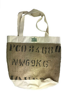 Details About Two Whole Foods Cotton Canvas Burlap Tote Bag