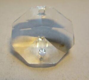 100 Octagon Koppen 14x14 mm 2 Löcher Asfour Crystal Bleikristall Lüster Oktagon