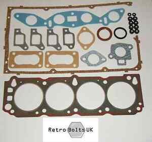 Ford-Pinto-Sohc-Cilindro-CABEZA-JUNTA-CONJUNTO-2-0-1-6-Mk1-Mk2-Escort-Capri-Cortina