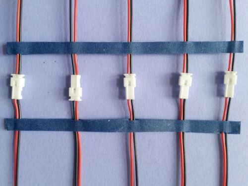 5 pairs Mini Micro JST 1.25mm PH 2-Pin 5  MALE /& 5 FEMALE Conn /& Cable .