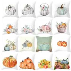 Fall-Halloween-Pumpkin-Pillow-Case-Waist-Throw-Cushion-Cover-Sofa-Home-Decor-NEW