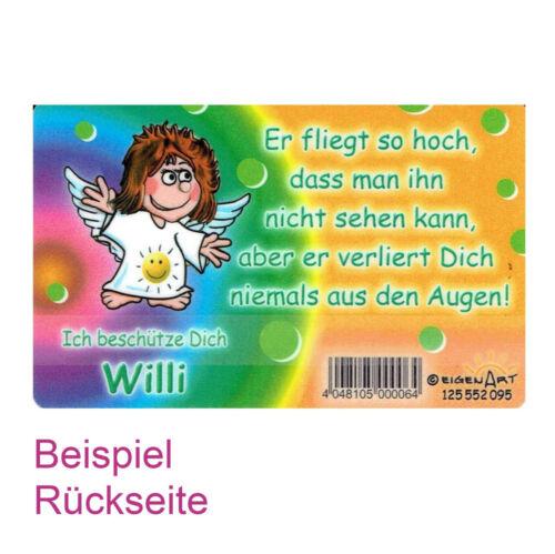 Schutzengelkarte Schutzengelkarte Mädchennamen Buchstabe N-W Geschenk Karte