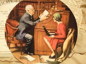 The-Professor-10-Norman-Rockwell-Heritage-Collection-Knowles-series-Plate