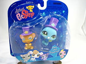 BNIB-LITTLEST-PET-SHOP-MOUSE-AND-BIRD-WITH-HATS-462-amp-463