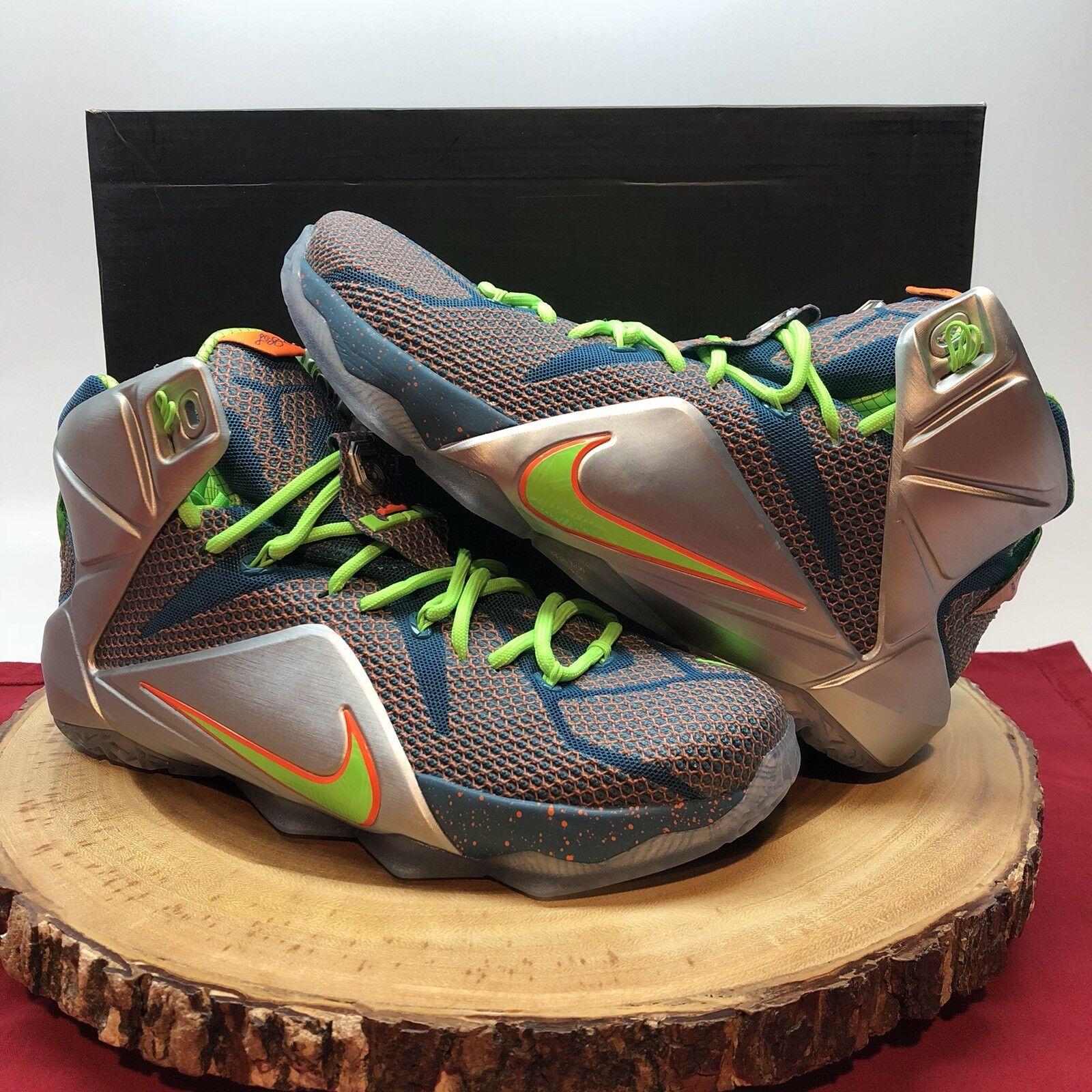 Nike Lebron XII PRM Trillion Dollar Man Riftblue Metallic Silver 705410 430 8.5