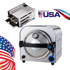 Dental Autoclave Steam Sterilizer Vacuum Lab Equipment Medical Stainless 14l