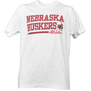 NCAA-Nebraska-Cornhuskers-White-Underline-Logo-Tshirt-Tee-Short-Sleeve-Sports