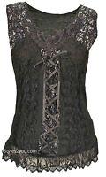 Pretty Angel Clothing Mercer Women's Vintage Corset Top In Blacks 67642