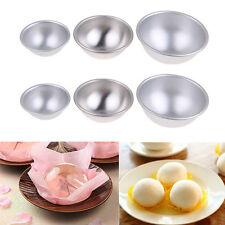 3 Sizes 3D Aluminum Ball Sphere Bath Bomb Cake Pan Tin Baking Pastry Mould GG