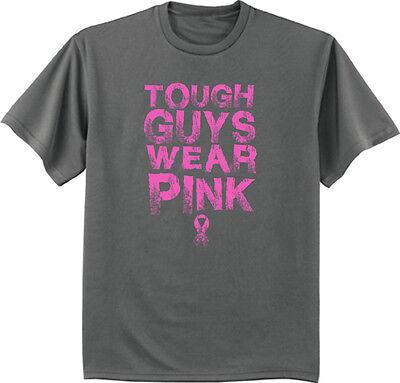 Men/'s Breast Cancer Awareness sweatshirt gray tough guys wear pink sweat shirt